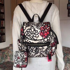 Coach Poppy Daisy Graffiti Backpack & wristlet